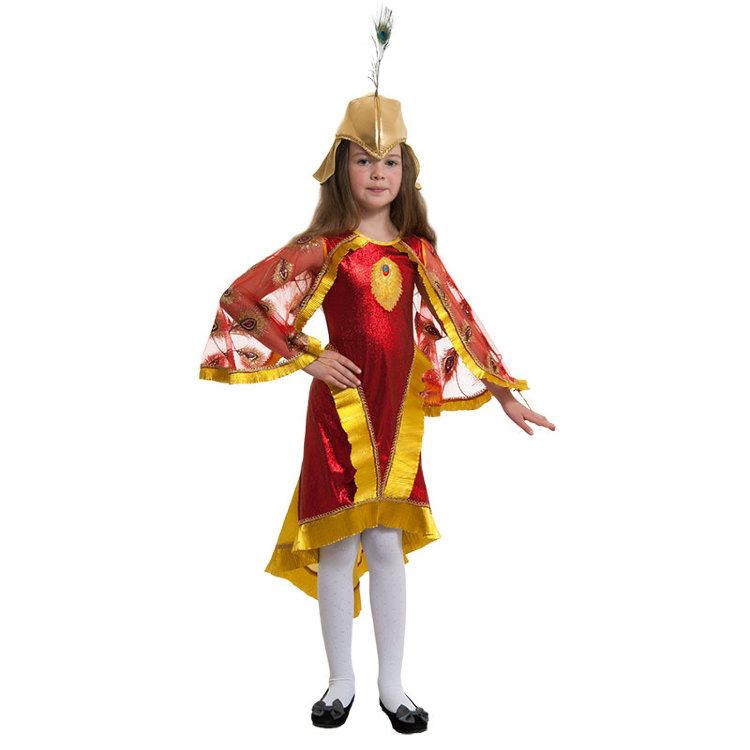 Новогодний костюм для девочки жар птица своими руками